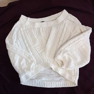 Express Cropped Chenille Sweater